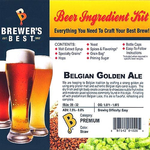 Brewer's Best Belgian Golden Ale Beer Kit
