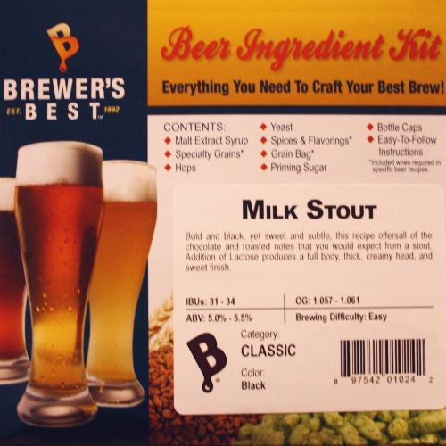 Brewer's Best Milk Stout Beer Kit