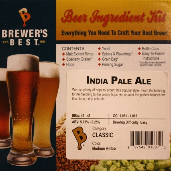 India Pale Ale (IPA) Beer Ingredient Kit
