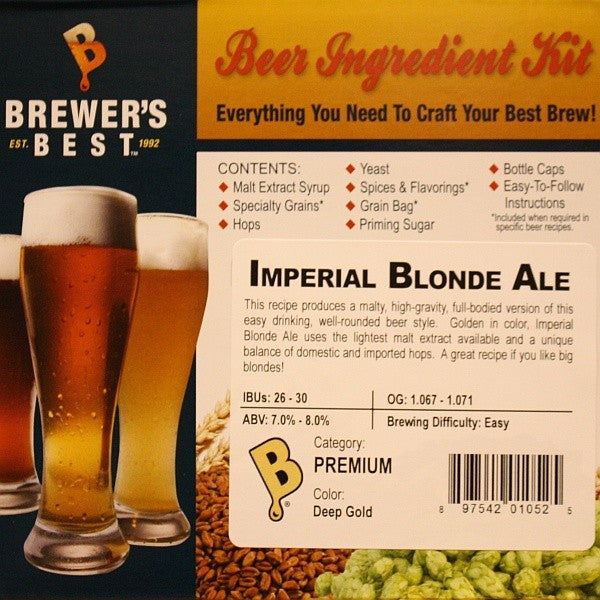 Imperial Blonde Ale Beer Ingredient Kit