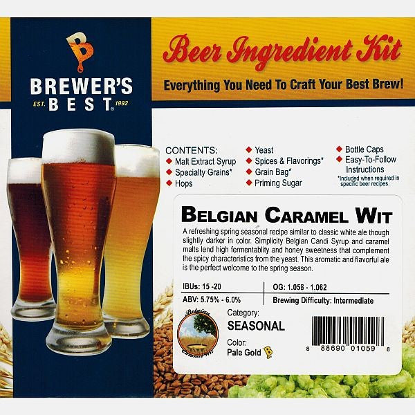 Brewer's Best Belgian Caramel Wit Beer Kit