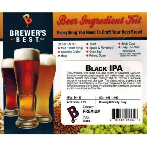 Brewer's Best Black IPA Beer Kit