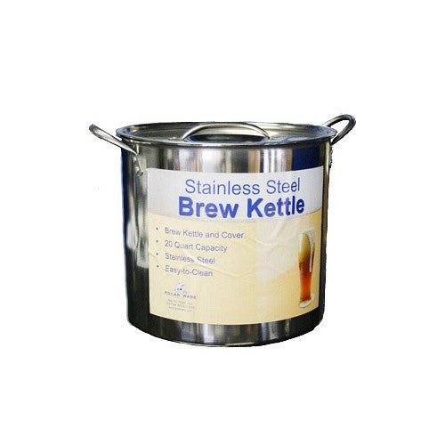 20 Quart Stainless Steel Brew Kettle w/Lid