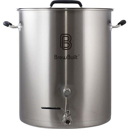 10 Gallon BrewBuilt Stainless Steel Brew Kettle w/Welded Couplers