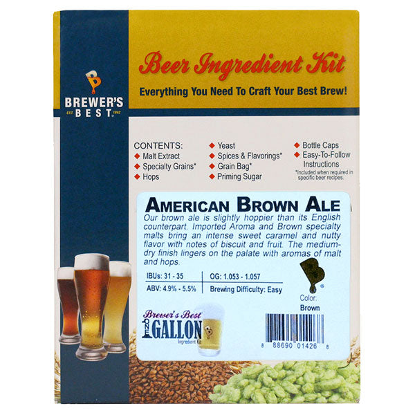 Brewer's Best American Brown Ale Beer Kit -  1 Gallon