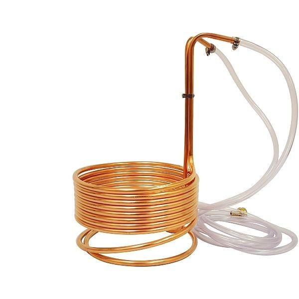 "Copper Immersion Wort Chiller 3/8"" x 25'"