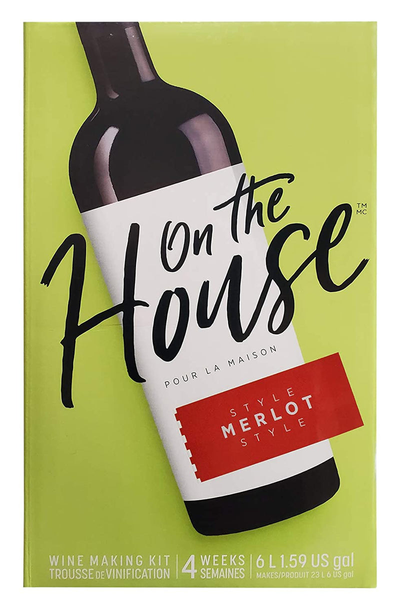 On the House Wine Ingredient Kit - Merlot Style, 6 L