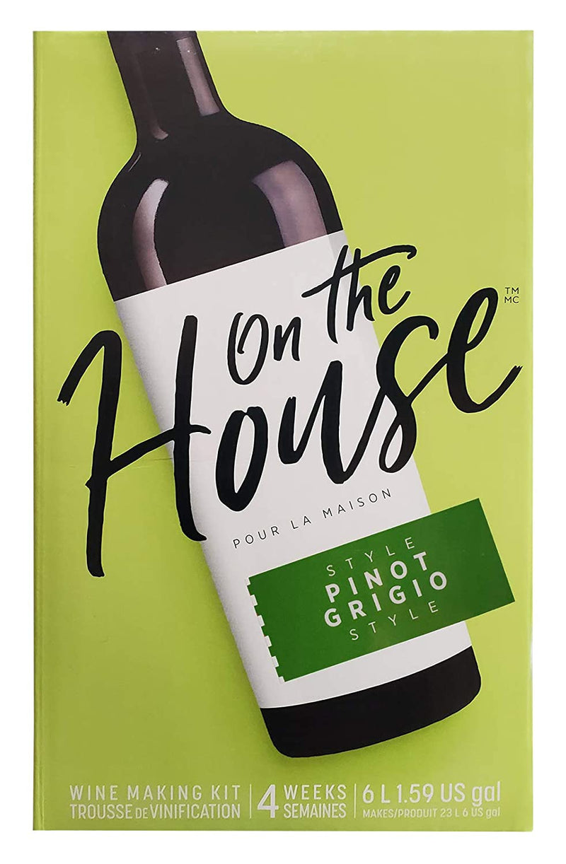 On the House Wine Ingredient Kit - Pinot Grigio Style, 6 L