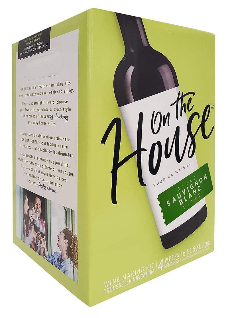 On the House Wine Ingredient Kit - Sauvignon Blanc Style, 6 L