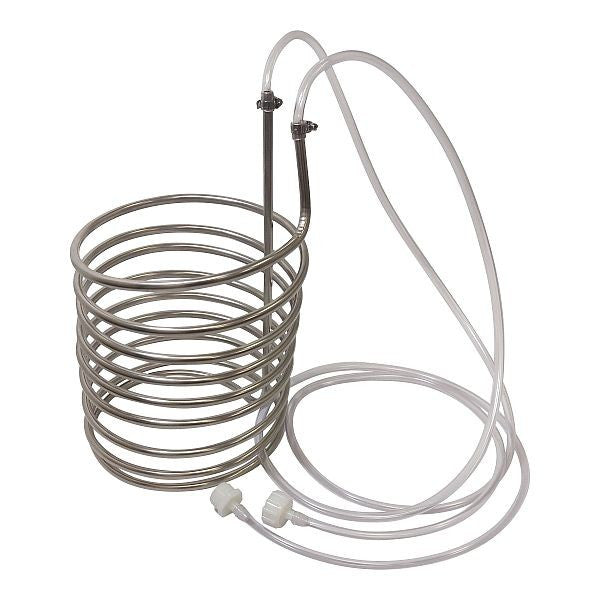 "Stainless Steel Immersion Wort Chiller / Pre-Chiller 3/8"" x 25'"