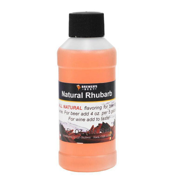 Natural Beer/Wine Flavoring - Rhubarb, 4 oz
