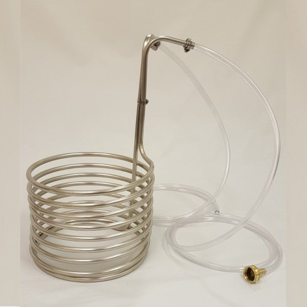 "Stainless Steel Wort Chiller 3/8"" x 25' - With Spacing"