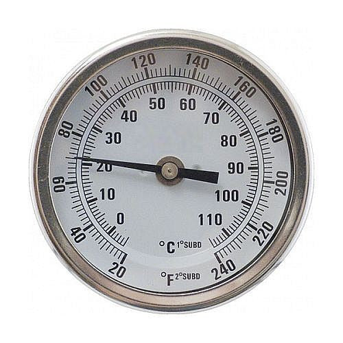 "Dial Thermometer 1/2"" NPT (3"" Face x 2.5"" Probe)"