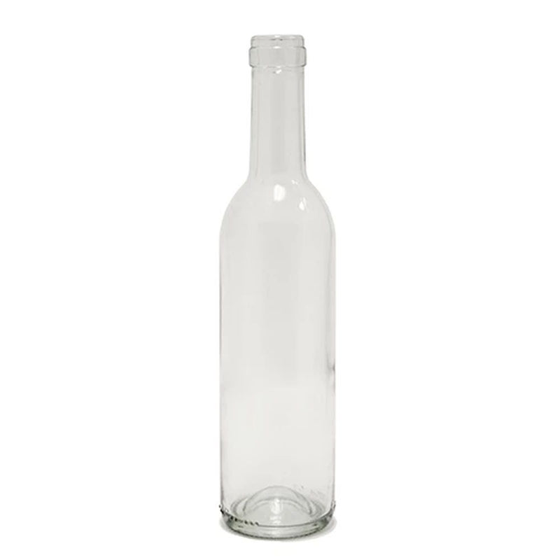Bordeaux Wine Bottles - 375 ml, Clear - Case of 24