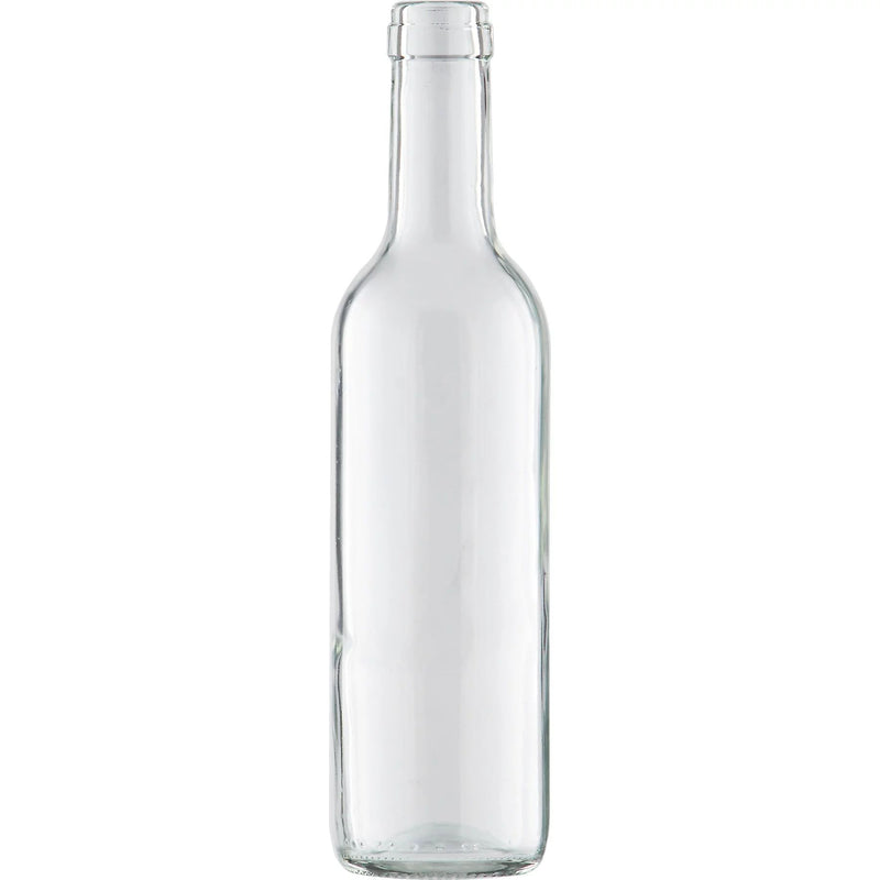 Bordeaux Wine Bottles - 375 ml, Clear - Case of 12