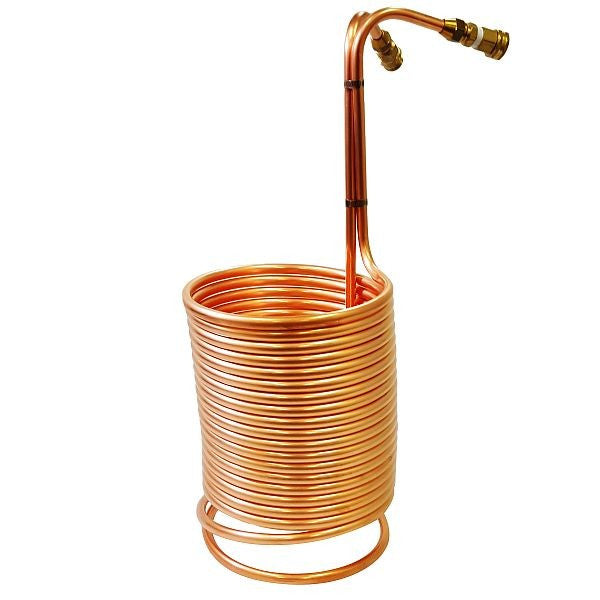 "Copper Immersion Wort Chiller with Garden Hose Fittings 1/2"" x 50'"