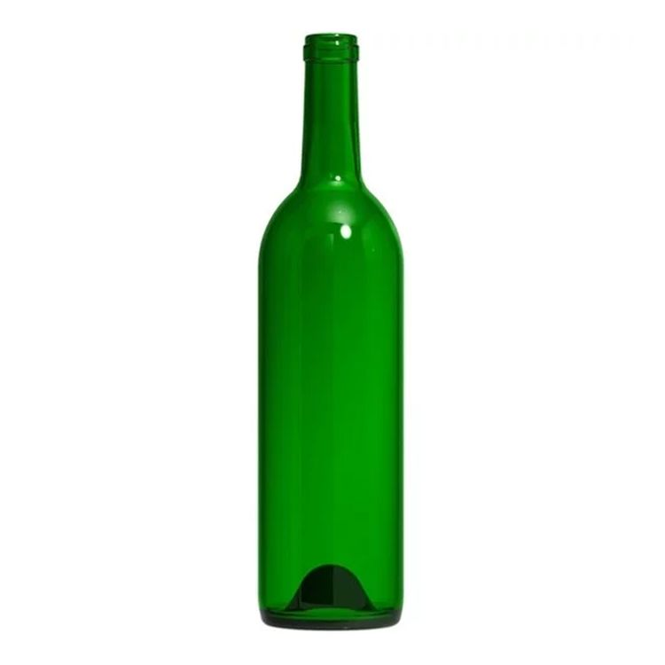 Bordeaux Wine Bottles - 750 ml, Champagne Green - Case of 12