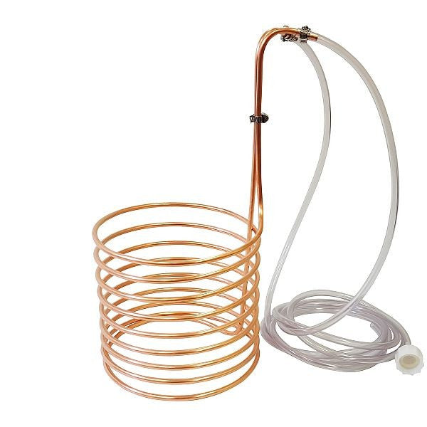 "Copper Immersion Wort Chiller 1/4"" x 20'"