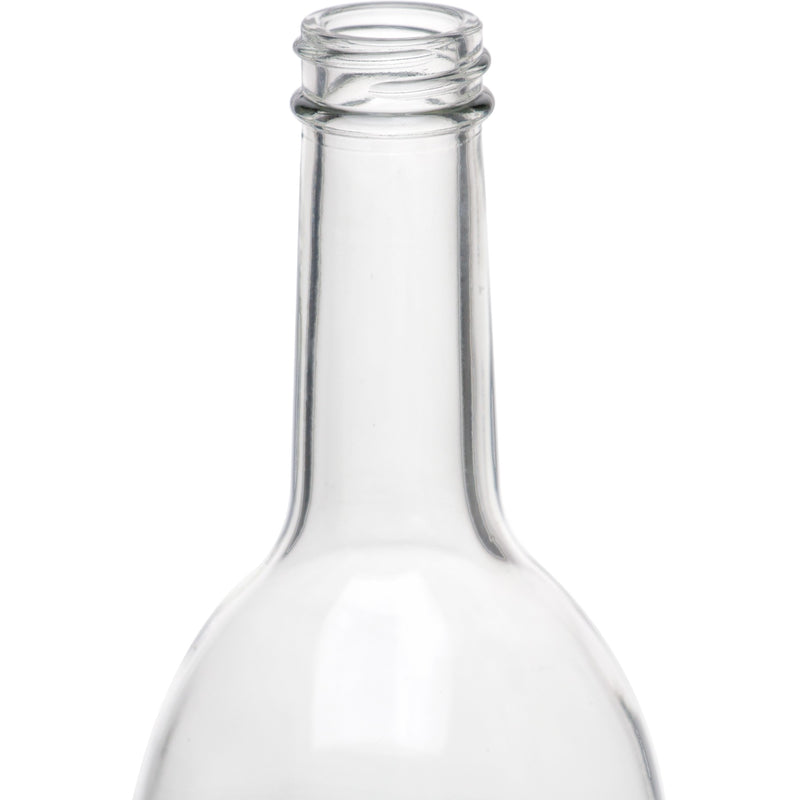 Bordeaux Wine Bottles - 750 ml, Screw Top, Clear - Case of 12