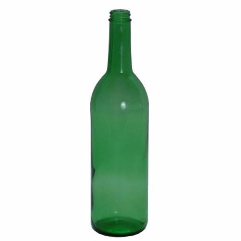 Bordeaux Wine Bottles - 750 ml, Screw Top, Green - Case of 12