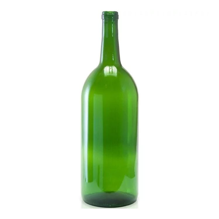 Bordeaux Wine Bottles - Magnum 1.5 Liter, Green - Case of 6