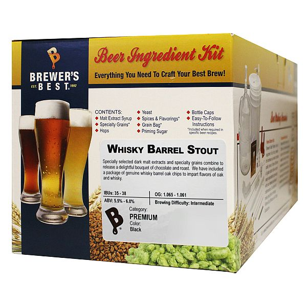 Brewer's Best Whisky Barrel Stout Beer Kit
