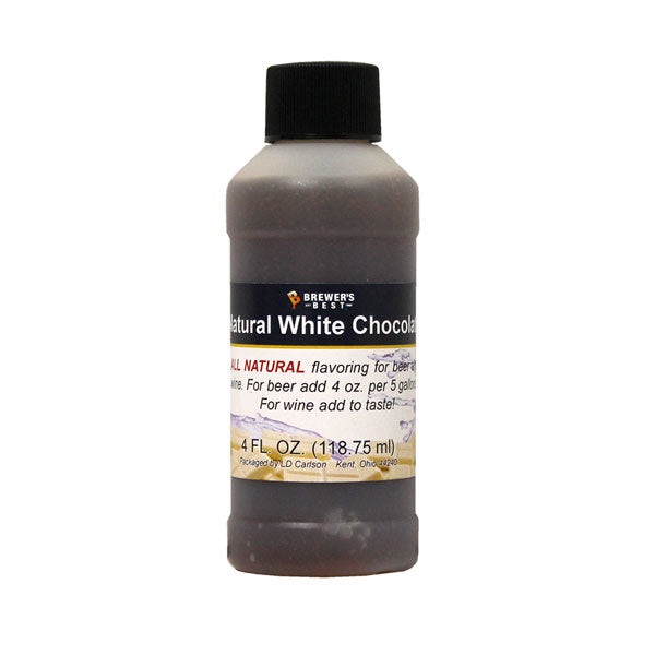 Natural Beer/Wine Flavoring - White Chocolate, 4 oz