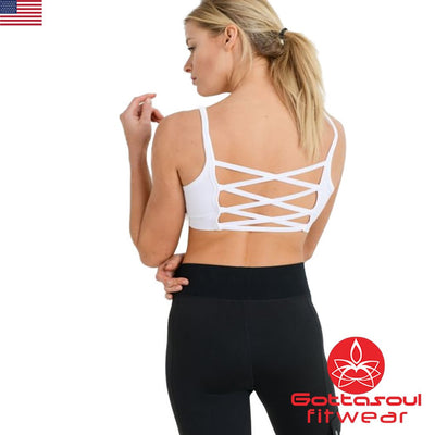 strappy yoga bra