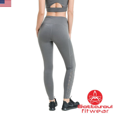 leggings with mesh sides