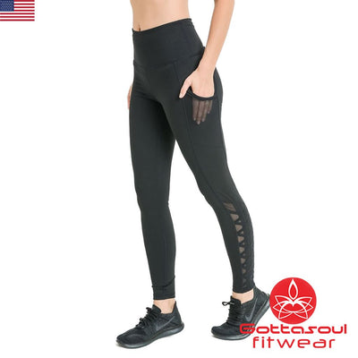 leggings with mesh cutouts