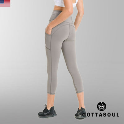 Highwaist Capri Performance Pocket Leggings