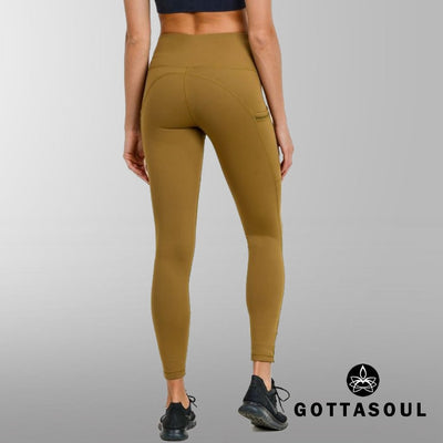 High Waist Slit Mesh Leggings