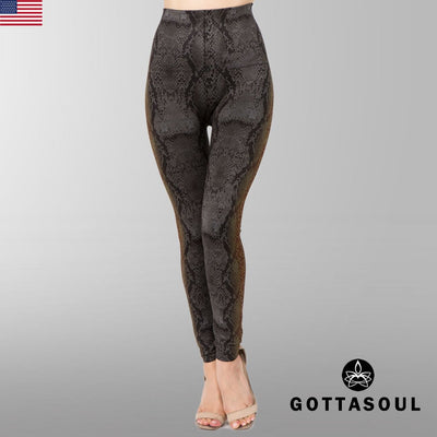 tummy control snake leggings