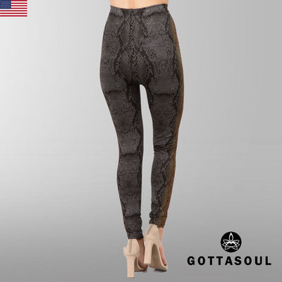 tummy control lizard leggings