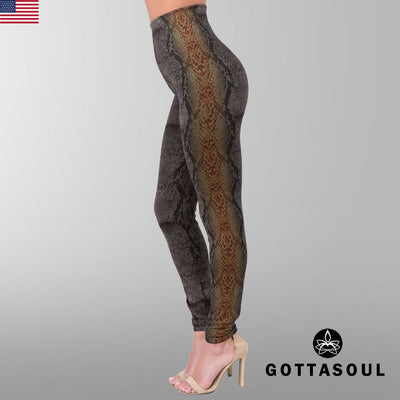 tummy control serpent leggings