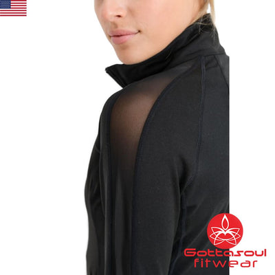 yoga jacket with thumb holes