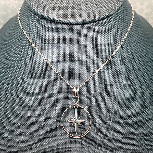 Sterling silver Christmas star necklace