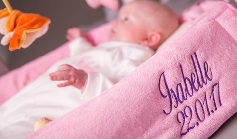 Personalised baby gifts stand out from the crowd imagine a beautiful blanket draped over the pushchair with their name proudly displayed for all to admire or a changing mat with their name and date of negle Image collections