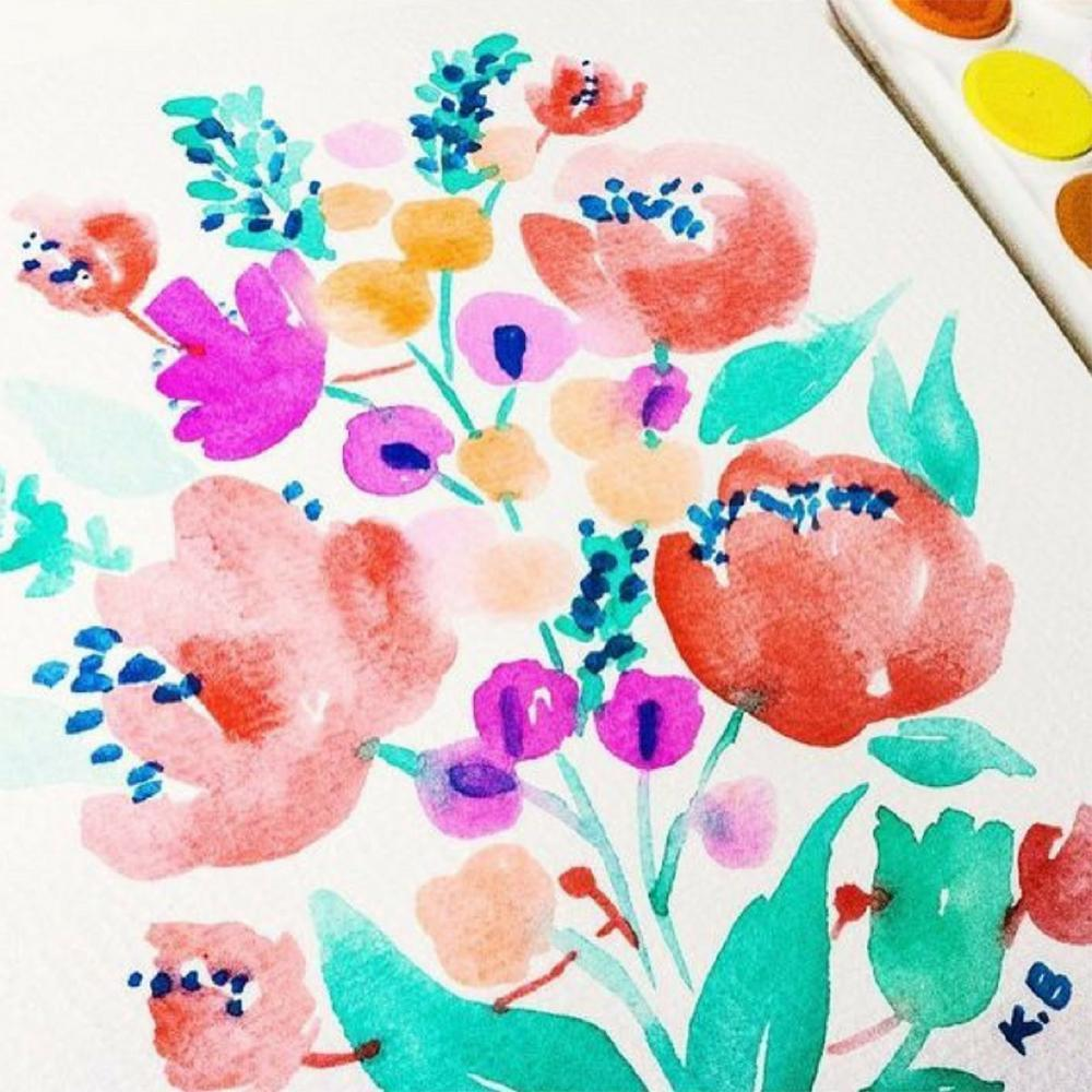 Brighten Up Your Winter W/ Watercolor Flowers