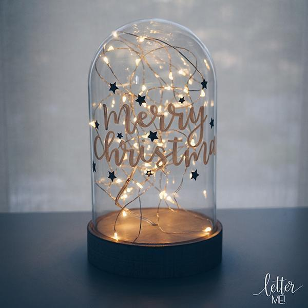 Custom Made Christmas Fairy Light Dome
