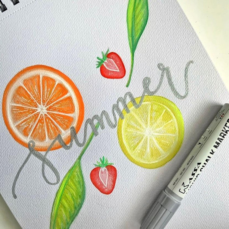 DIY Summer Fruit Watercolor Painting