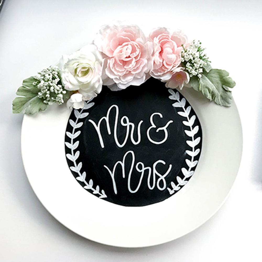 DIY Wedding Plate Decor