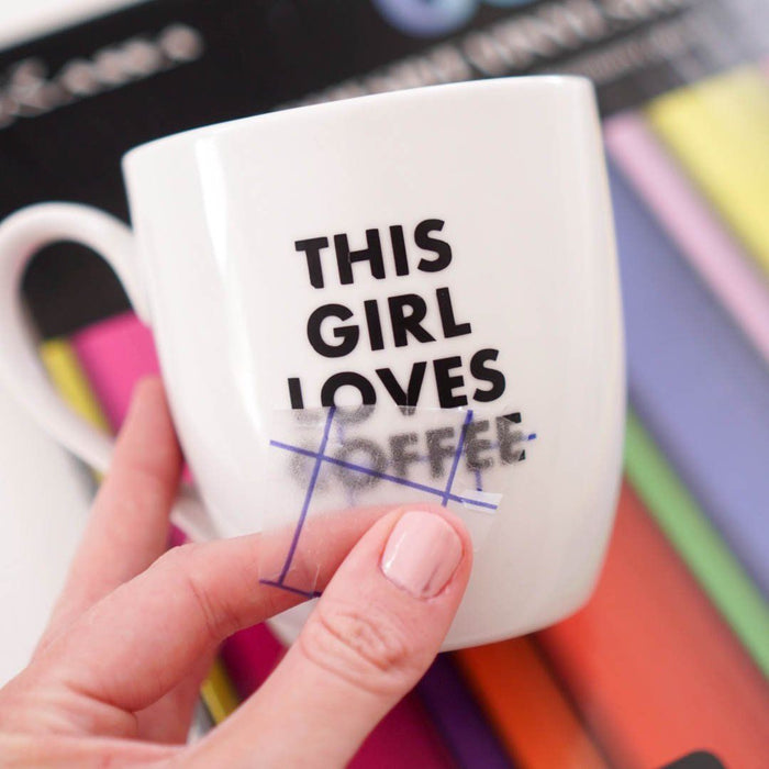 How To Apply Adhesive Vinyl Sheets to Mugs + FREE SVGs!