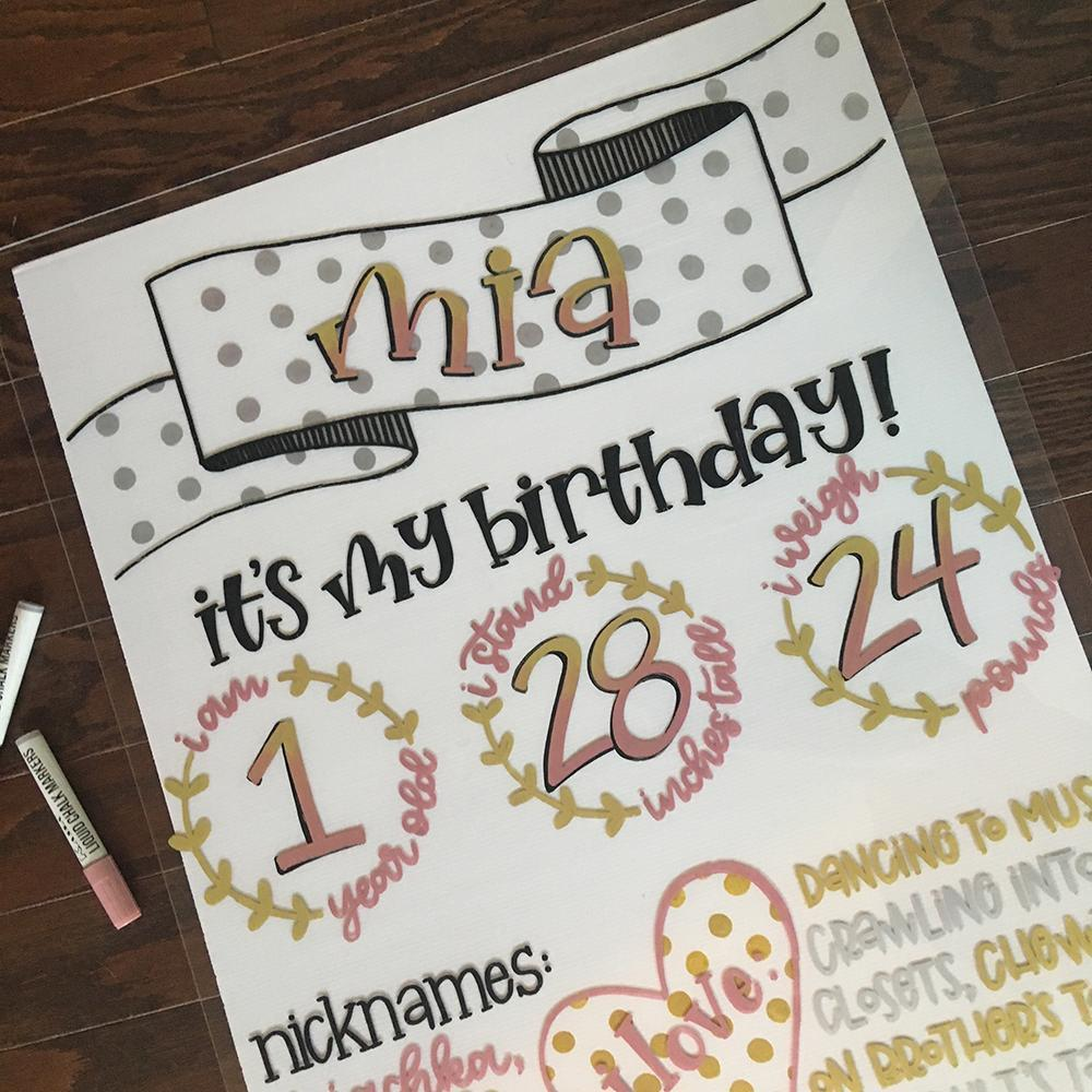 How To Make A Birthday Milestone Board