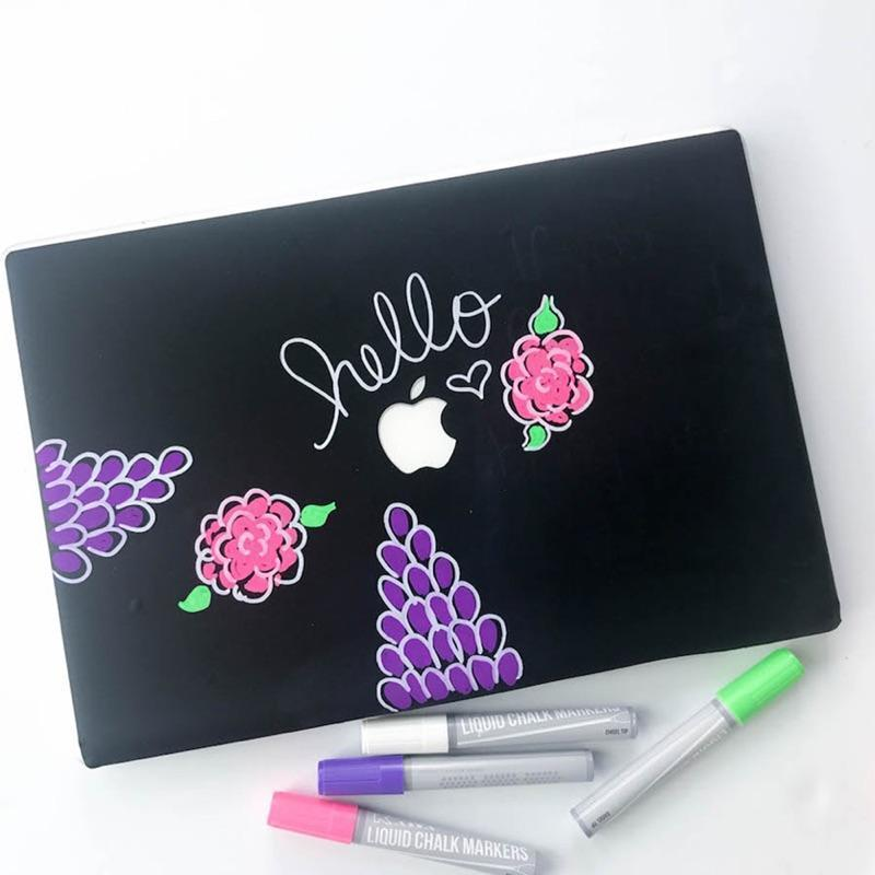Laptop Art With Kassa Chalkboard Vinyl & Chalk Markers