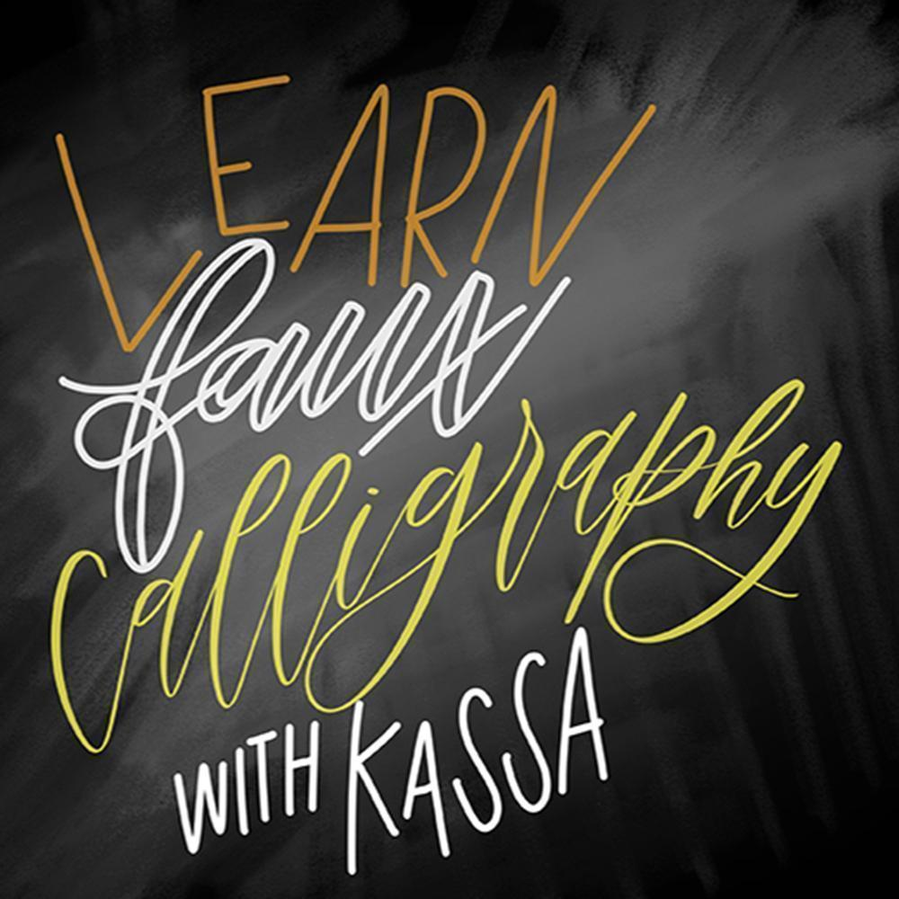 Learning Faux Calligraphy with Chalk Markers