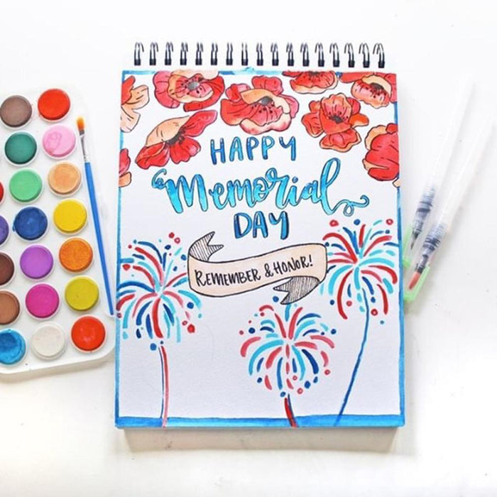 Memorial Day Inspired Brush Lettering