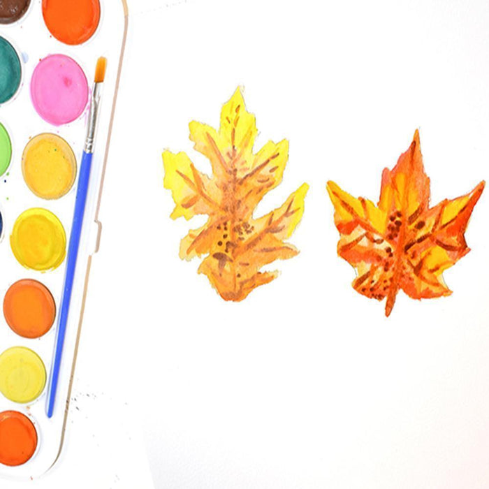 Painting Watercolor Leaves