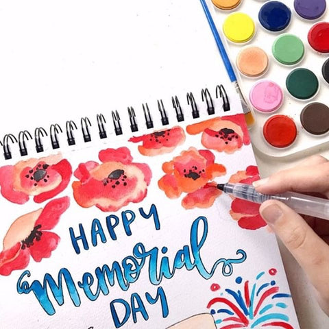 painting flowers with the Kassa watercolor set