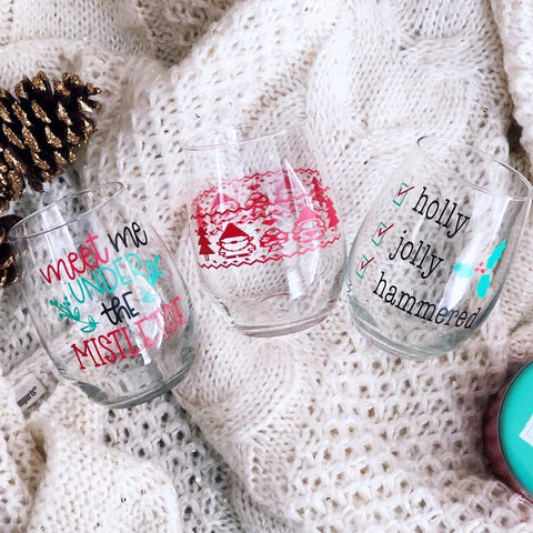 kassa vinyl project holiday drinking glasses